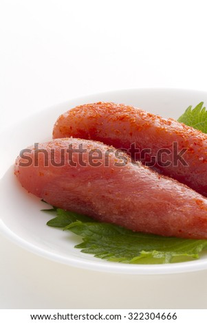Spicy flavored soft roe - stock photo