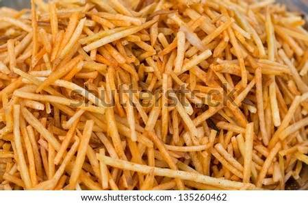 spicy french fries from India - stock photo