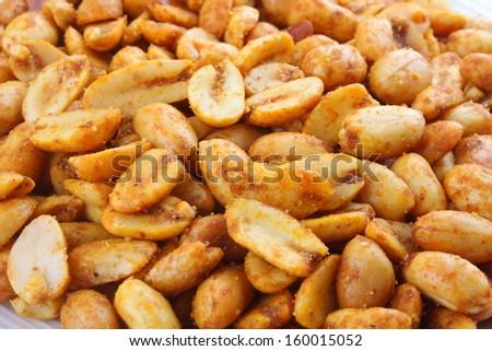 Spicy peanuts. - stock photo