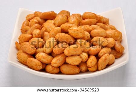 Spicy Peanuts im-5 - stock photo