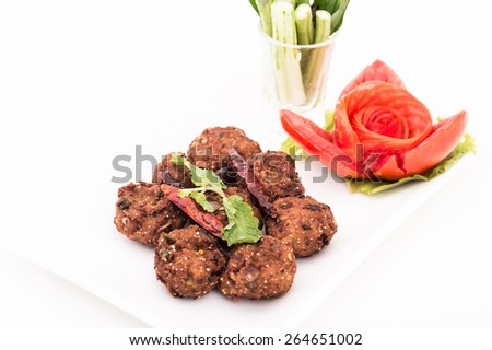 Spicy pork mince balls,Chinese food, Pork mince ball, - stock photo