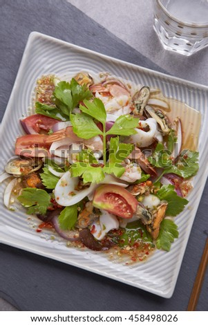 Spicy seafood salad / Thai Food