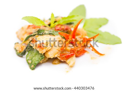 Spicy Stir Fried Fish Fillet with Herb