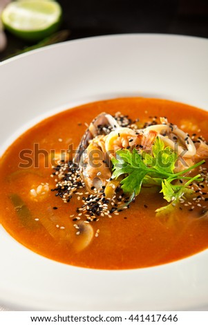 Spicy Thai Seafood Soup
