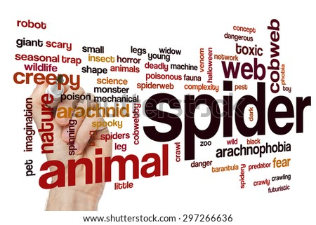 Spider word cloud concept - stock photo