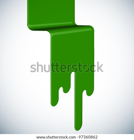 Spilled Paint - stock photo
