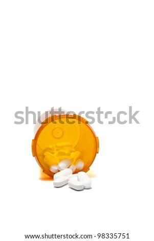Spilled Prescription Pills - stock photo