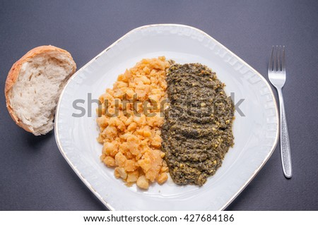 Spinach and potato