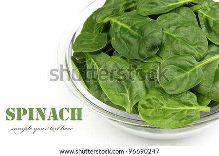 Spinach in plate