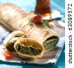 spinach pastry - stock photo