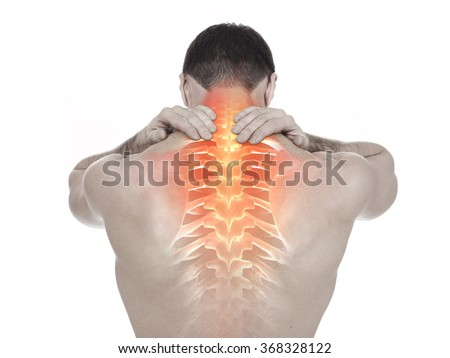 Spine pain - stock photo