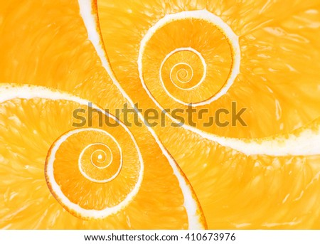Spiral background made of juicy lime - stock photo