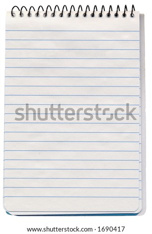 Spiral bound note pad - stock photo