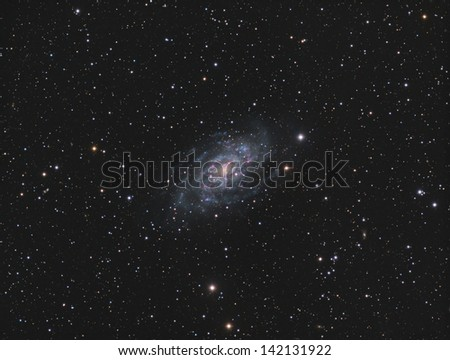Spiral Galaxy NGC2403 - A spiral galaxy about 8 million light years away in the constellation  Camelopardalis