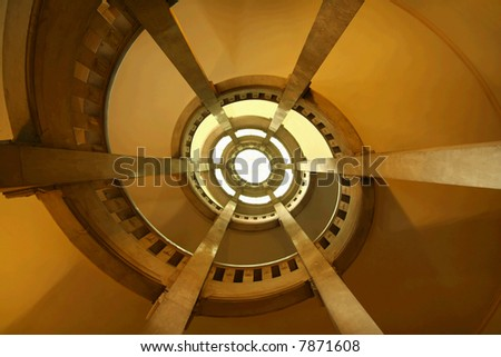 Spiral interior - stock photo