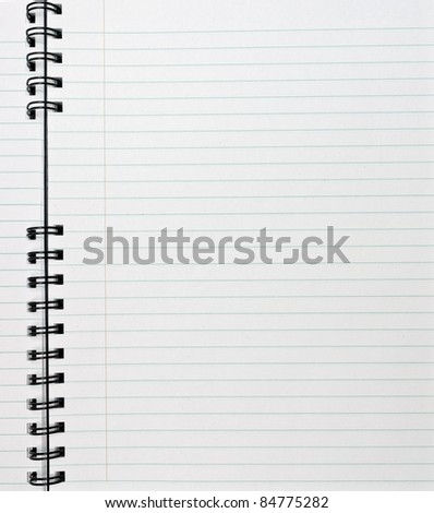 Spiral notebook - stock photo