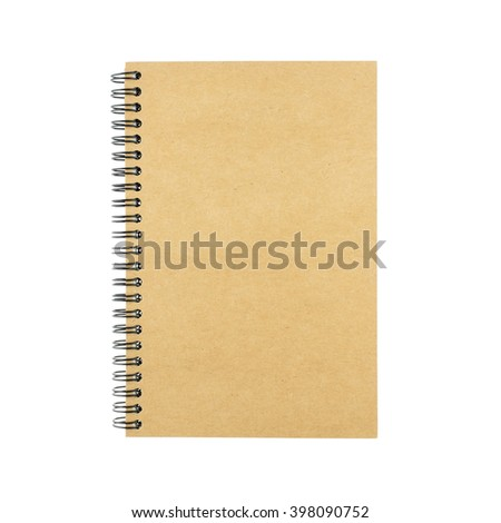 Spiral Notebook isolated on white background.