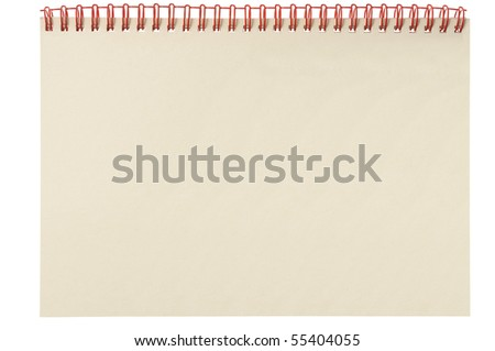 Spiral notepad isolated on white background