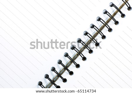Spiral of notebook - stock photo