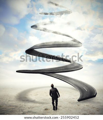 Spiral road  - stock photo