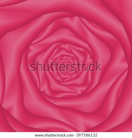 Spiral Rose in Pink / An abstract fractal image with a spiral rose design in pink. - stock photo