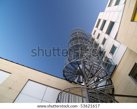 spiral stair case - stock photo