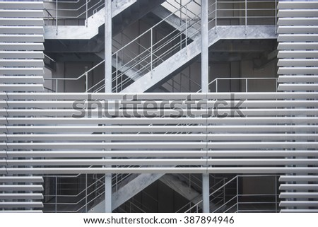 spiral staircase in a modern building, architecture - stock photo