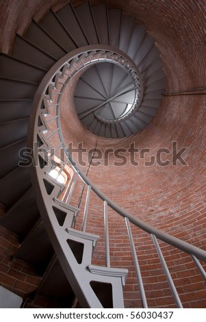 Spiral Staircase in the Portsmouth Lighthouse