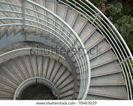 Spiral Stairs of circular design - Background Resources - stock photo