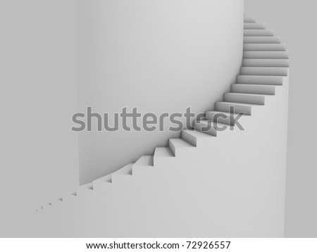 spiral stairway as background 3d illustration - stock photo