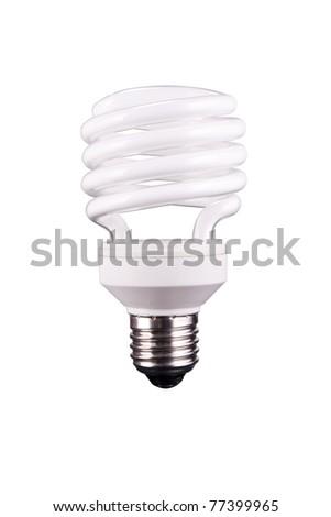 Spiral tube bulb - stock photo