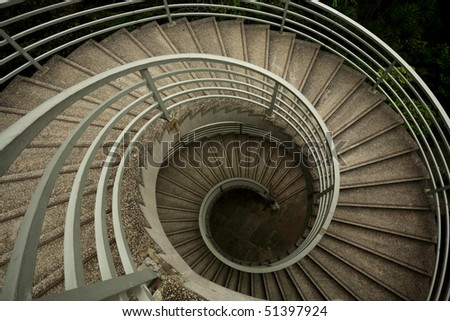 spiraling stairs - stock photo