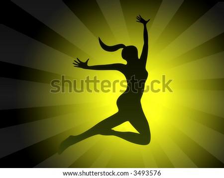 Spirit free pose - stock photo