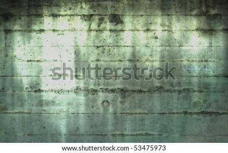 Spirit light in concrete wall - stock photo