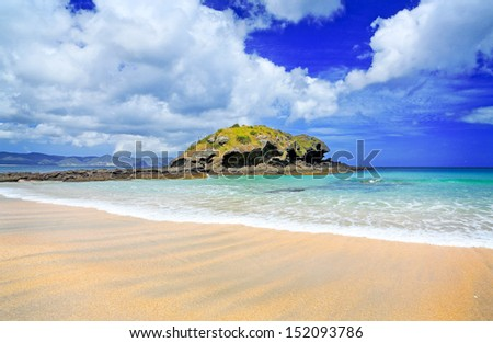Spirits Bay beach in Northland, New Zealand - stock photo