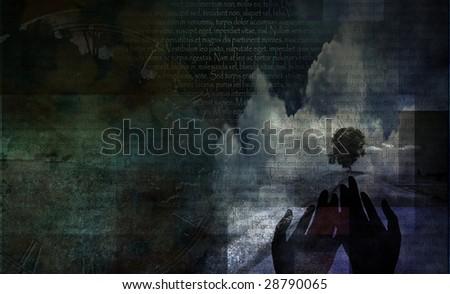 Spiritual Meditative Composition - stock photo
