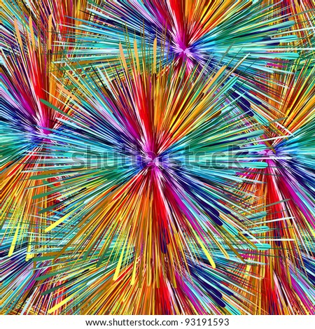 Splash: Abstract color explosion as symbol for creativity and spontaneity - stock photo