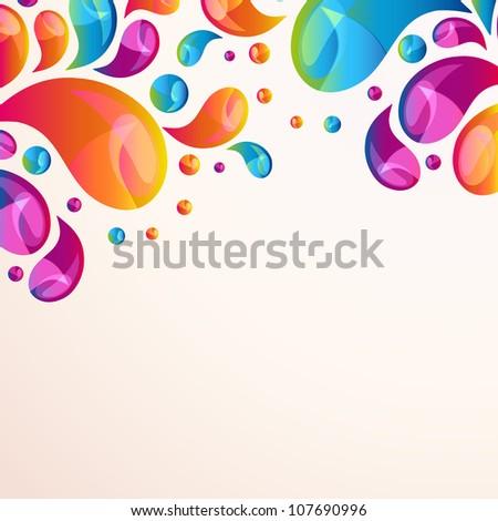 Splash background cover template. - stock photo