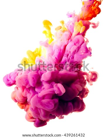 Splash of paint. Abstract background - stock photo