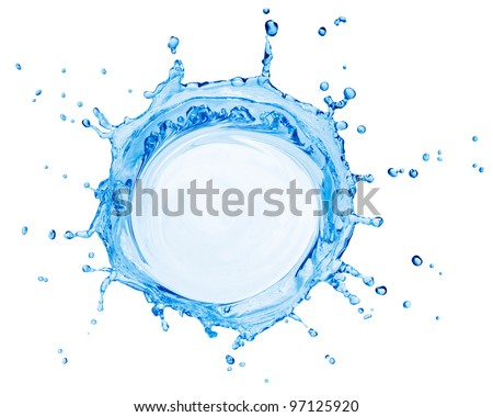 splash of water after something was dropped in to it - stock photo