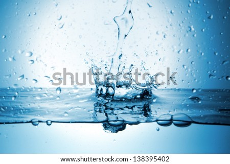 splash of water in an abstract form - stock photo