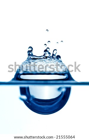 splash of water isolated over white - stock photo