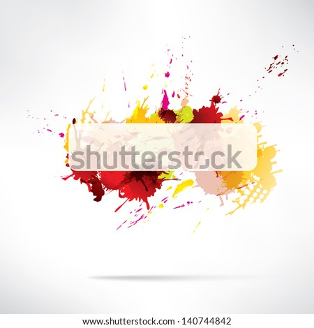 Splash on abstract background
