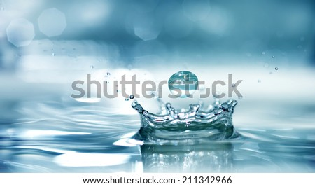 Splash water - stock photo