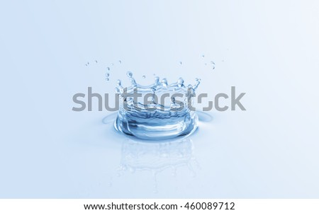 Splash water drop close up