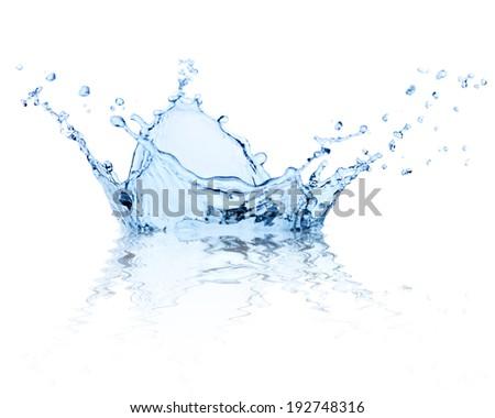 Splash water isolated on white background.  - stock photo