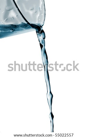 splash water out of a crystal glass on a white background - stock photo