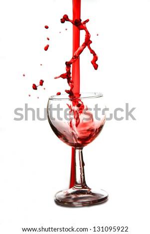 splash wine - stock photo