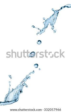 Splashes on white. Abstract water splash with drops - stock photo