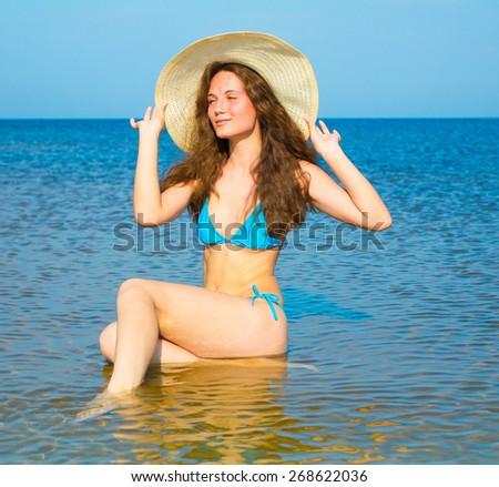 Splashing Beauty Liquid Happiness  - stock photo